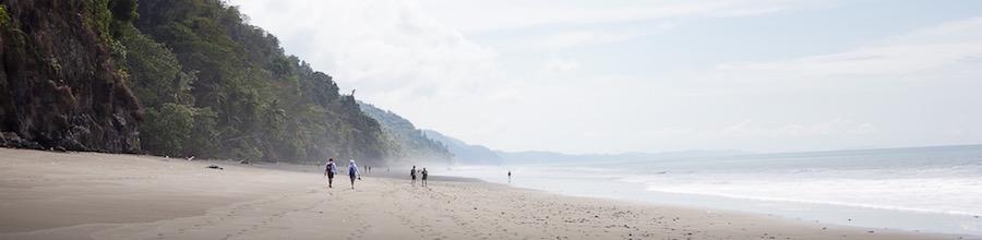 Beach hike in costa rica